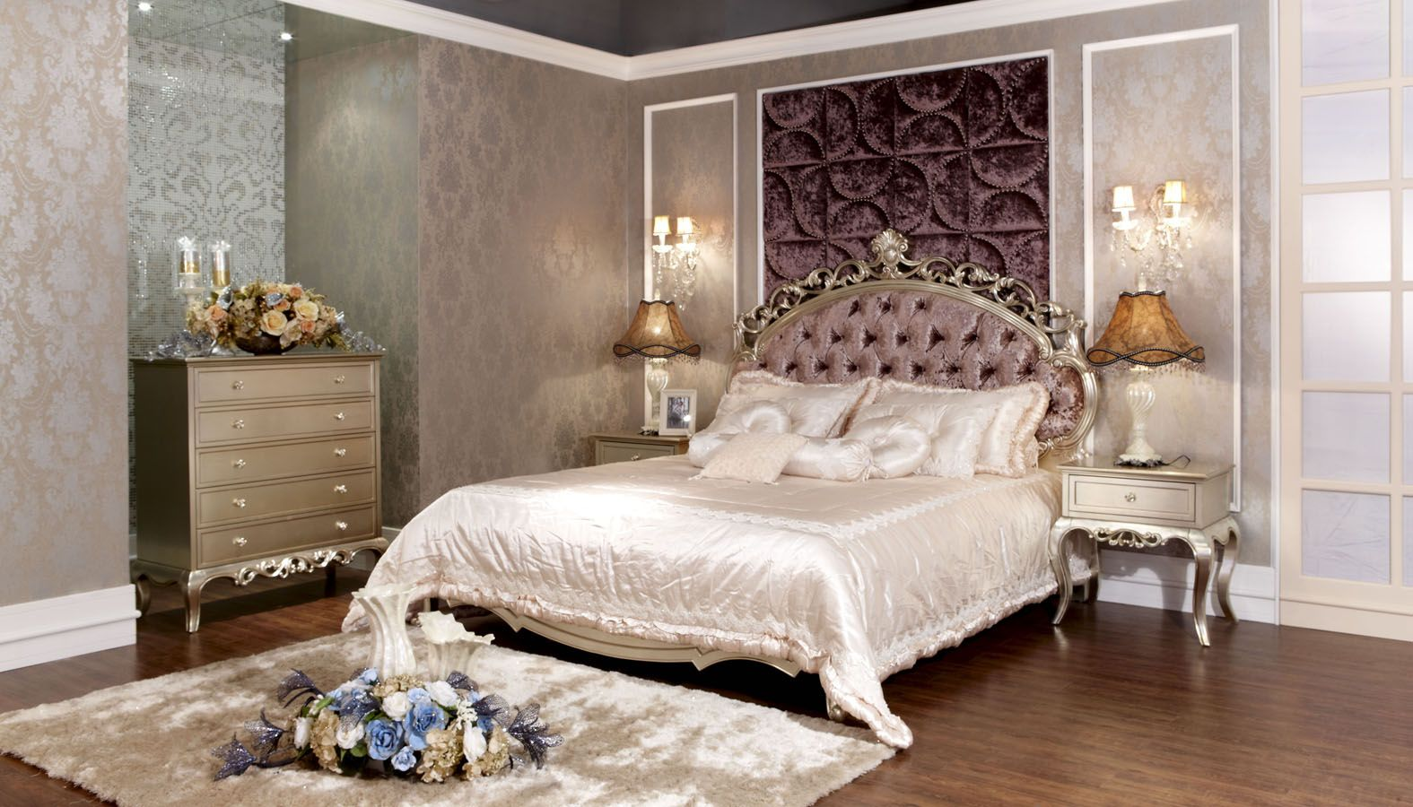 Neoclassical Decorating Style | China Bed With Neoclassical Style   Large  Image For Bedroom Furniture .