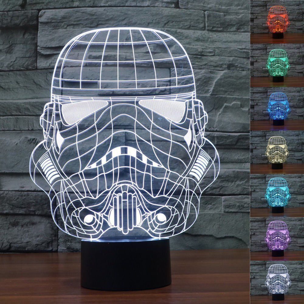 Star Wars Stormtrooper 3d Acrylic Led Night Light Desk Lamp New Awesome Products Selected By Anna Churchi Star Wars Lamp 3d Led Night Light 3d Illusion Lamp
