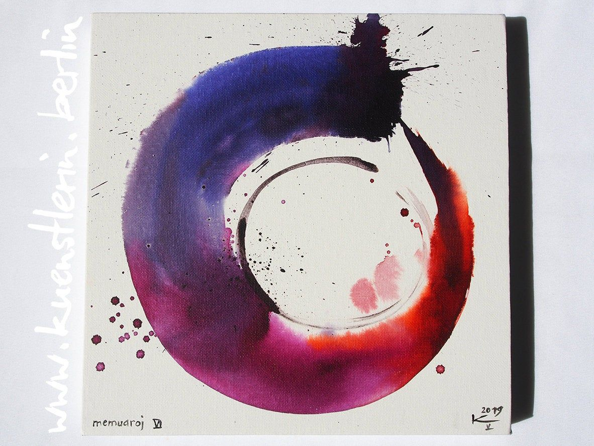 Bilder Auf Leinwand Japan Zen Circle Original Painting Picture On Canvas Abstract