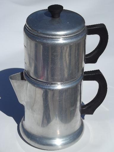 Vintage West Bend Kwik Drip Stovetop Drip O Lator Coffee Maker Pot Coffee Pot Coffee Coffee Maker