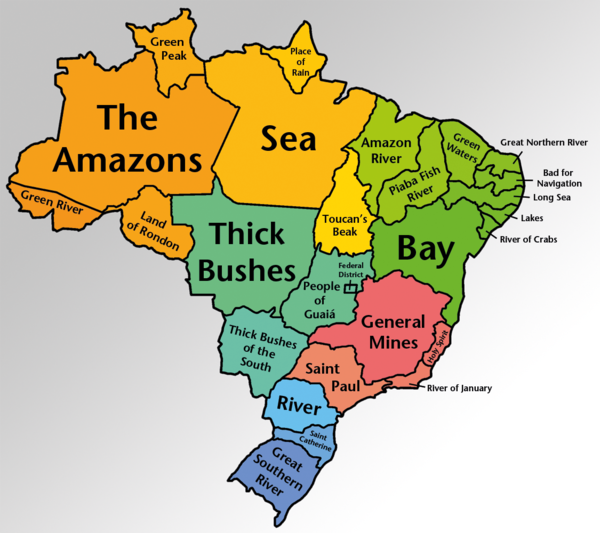 Someone thought it was a good idea to translate brazilian states to english