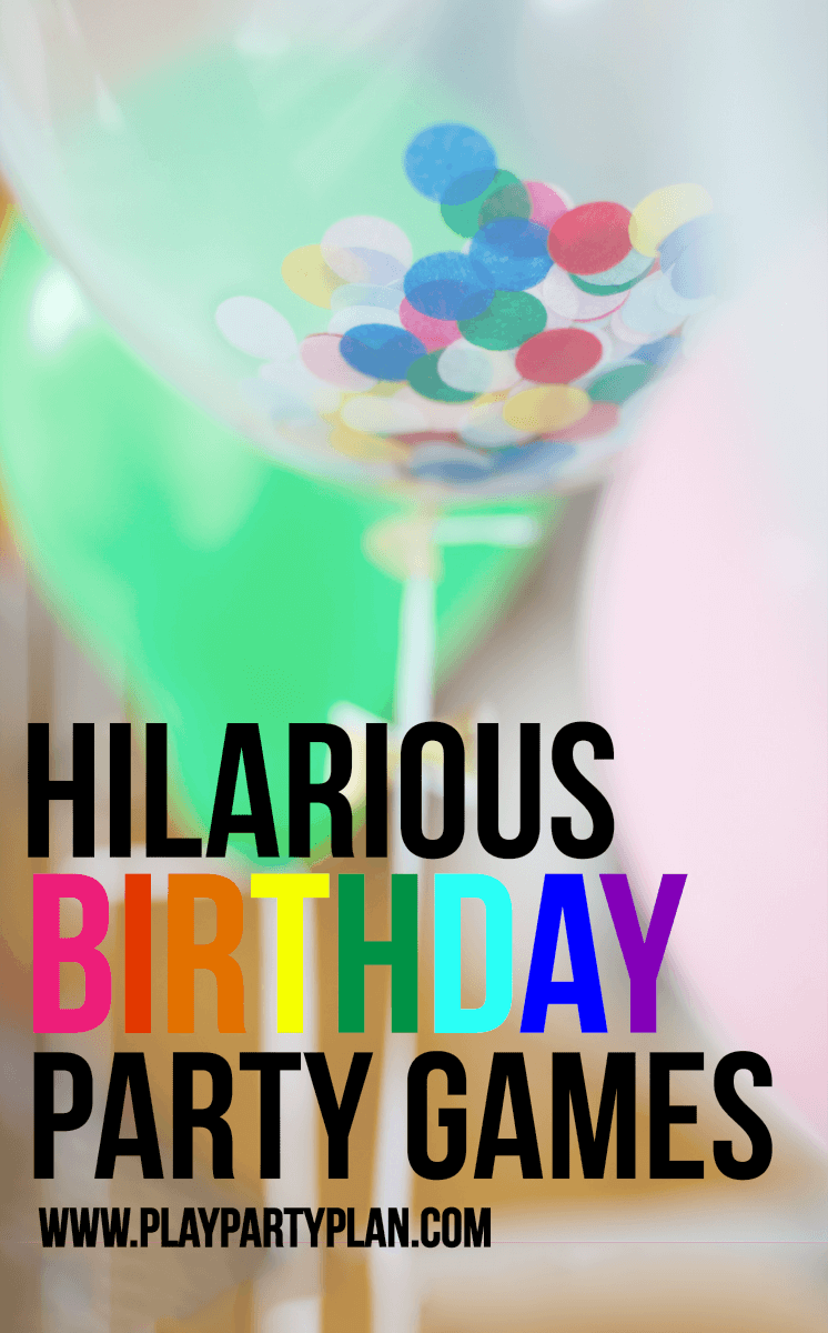 These hilarious birthday party games are great for teens