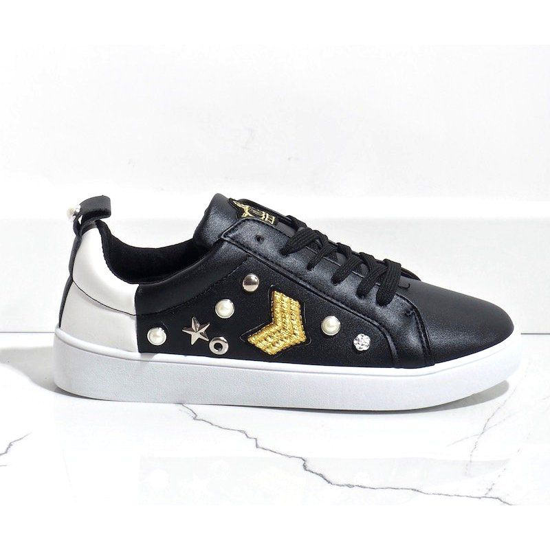 Czarne Trampki Bogato Zdobione 856 Y Sneakers Shoes Louis Vuitton
