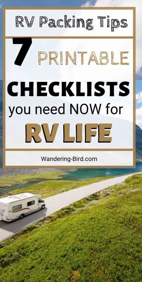 Photo of Essential Packing a camper lists- 7 printable RV checklists you need!
