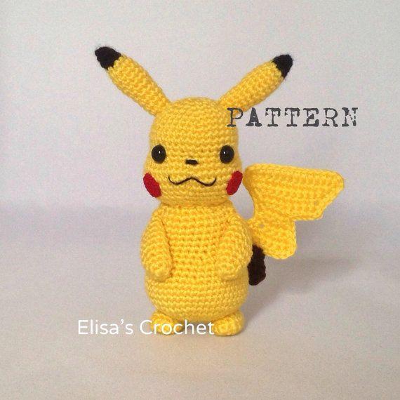 CROCHET PATTERN - Pokemon Pikachu Crochet Amigurumi - pdf only