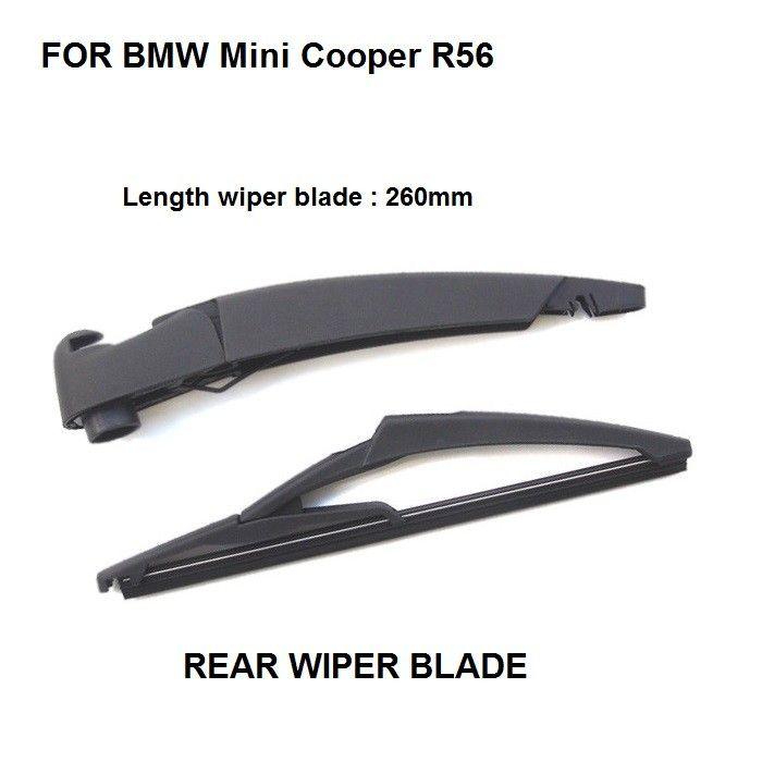 Rear Wiper Window Wiper Blade For Bmw Mini Cooper R56 Hatchback Rear Wiper Arm Blade 2006 2013 New Set Mini Cooper Mini Cooper R56 Bmw