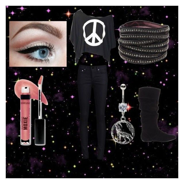 """Going back Home!~Ruby"" by neon-kitty ❤ liked on Polyvore featuring THVM, Deepa Gurnani, Steve Madden and Bare Escentuals"