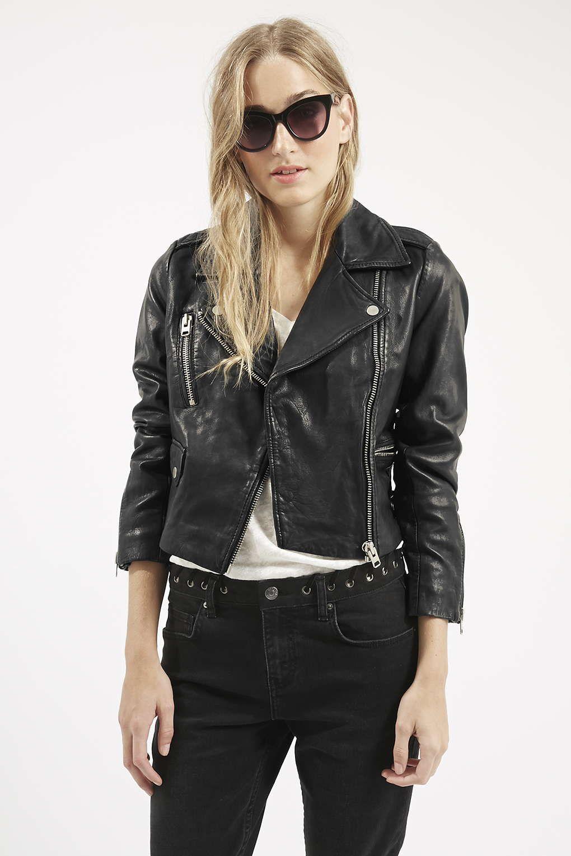 PETITE Luxe Leather Biker Jacket   Leather biker jackets, Leather ...