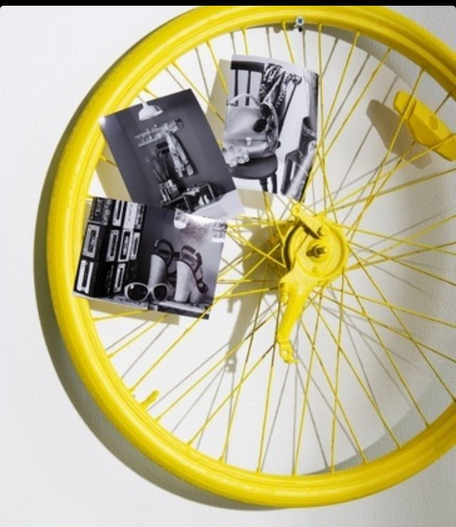 DIY Bicycle wheel wall decor | For the Home | Pinterest | Bicycle ...