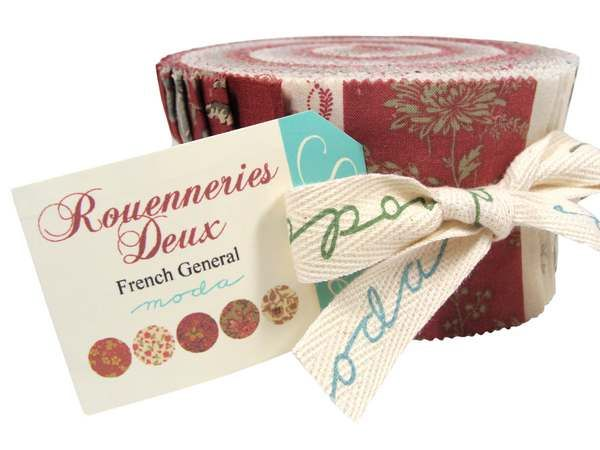 you are going to love these red white Jelly Rolls ..You Will Love Rouenneries Deux By French General For Moda
