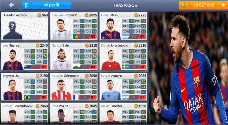 Truco Todos Los Jugadores Desbloqueados Dream League Soccer Dls17 Lionel Messi Ronaldo Gareth Bale