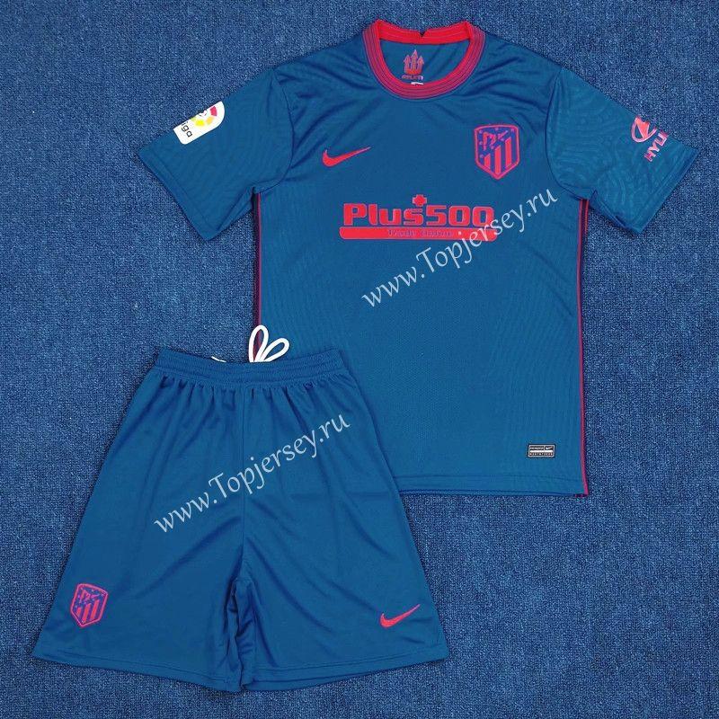 2020-2021 Atletico Madrid Away Blue Soccer Uniform | Soccer ...