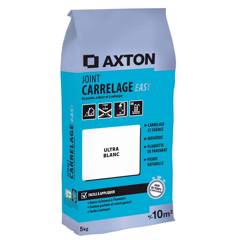 Joint Poudre Axton Easy Blanc 5 Kg 10 M Joint De Carrelage Gris Et Easy