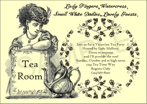 Victorian Tea Party Invitations Party Ideas Pinterest – Tea Party Invite Wording