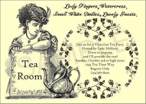 Victorian Tea Party Invitation Wording Ideas Sayings