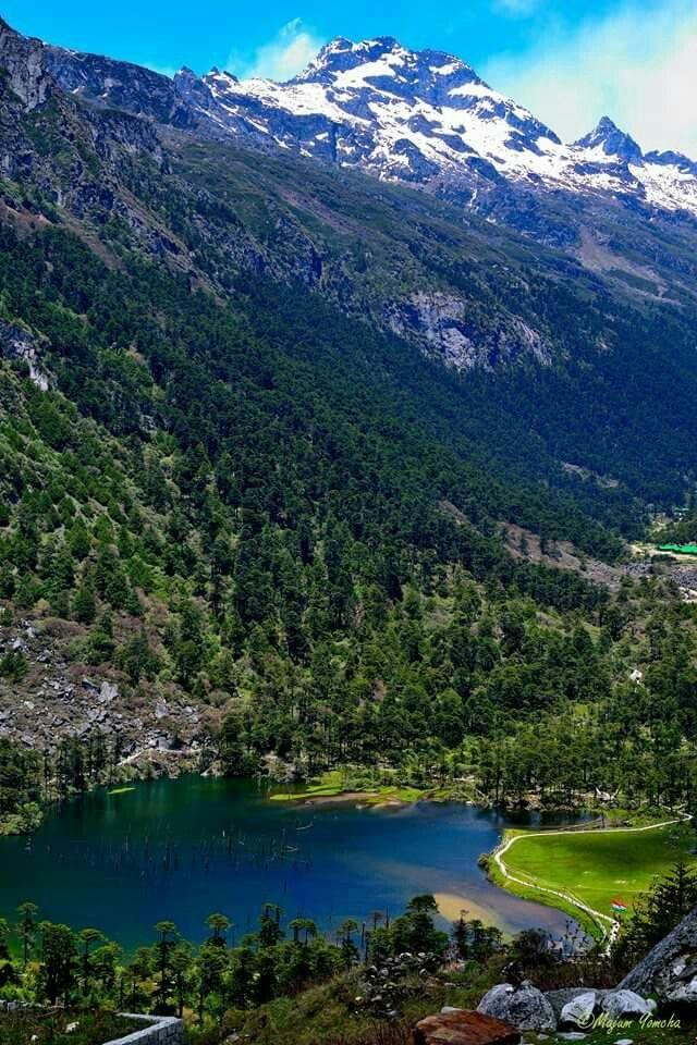 The picture is of Sengester lake in Tawang, Arunachal