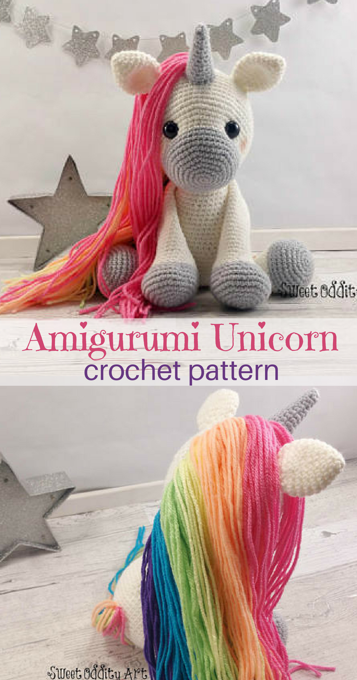 Amigurumi - Unicorn: Crochet Pattern (English Edition) eBook ... | 1400x735