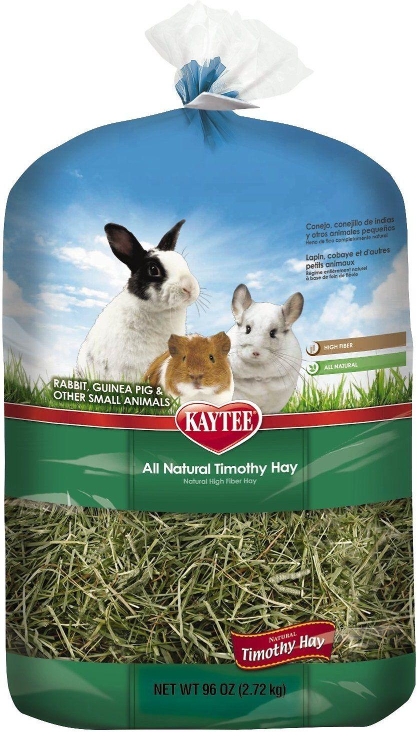 Kaytee Natural Timothy Hay Small Animal Food, 96oz bag