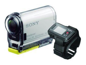 Kit Action Cam Sony Hdr-As100Vr con Carcasa Contra Agua, Montura Curva y Zapata Plana #Sony #Gadget #Cámara #ActionCam