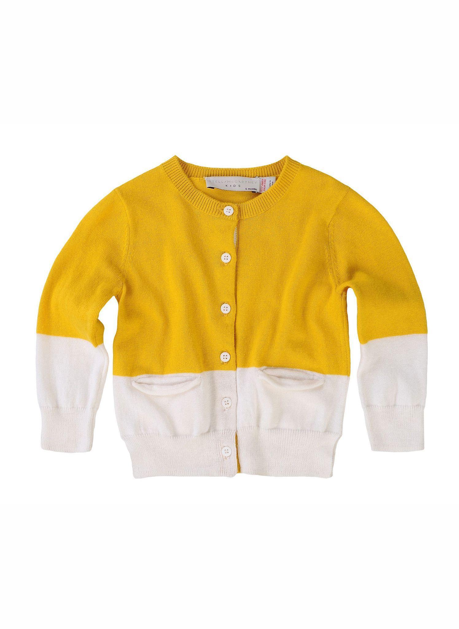 Stella McCartney Lauren Baby Girl Cardigan - 332919 - Yellow ...