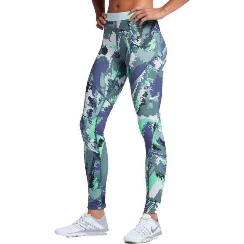 f2f2db594a Nike Women's Pro Hyperwarm Oil Glitch Tights, Size: XS, Dk Purple  Dust/Green Glow