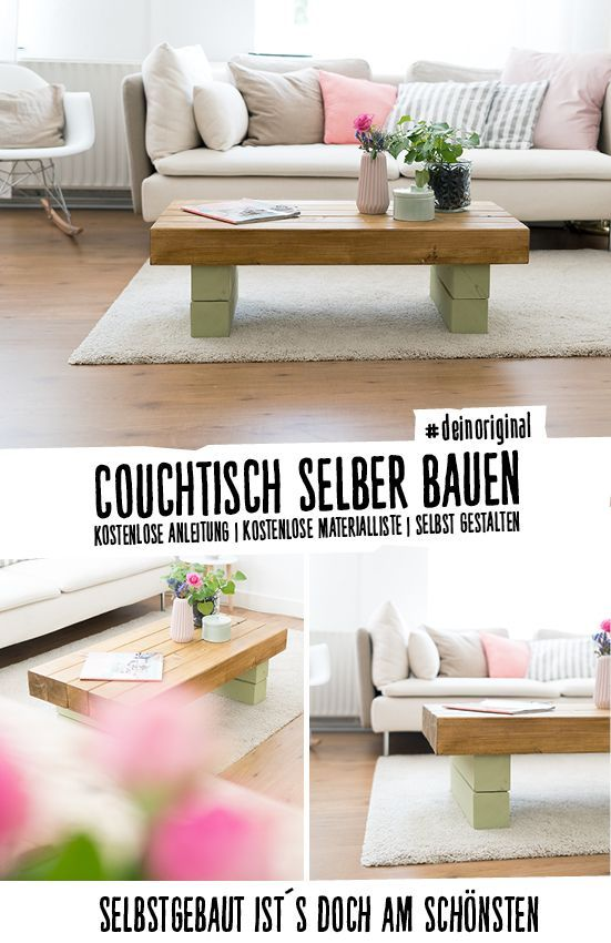 Couchtisch Bernd selber bauen - Tische WG-Ideen Pinterest