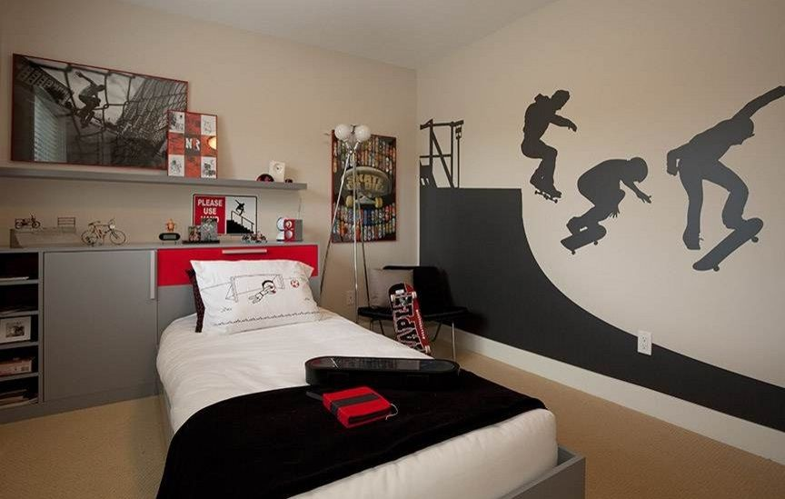 Pin de isa en decora patineta pinterest dormitorio for Pegatinas habitacion nina