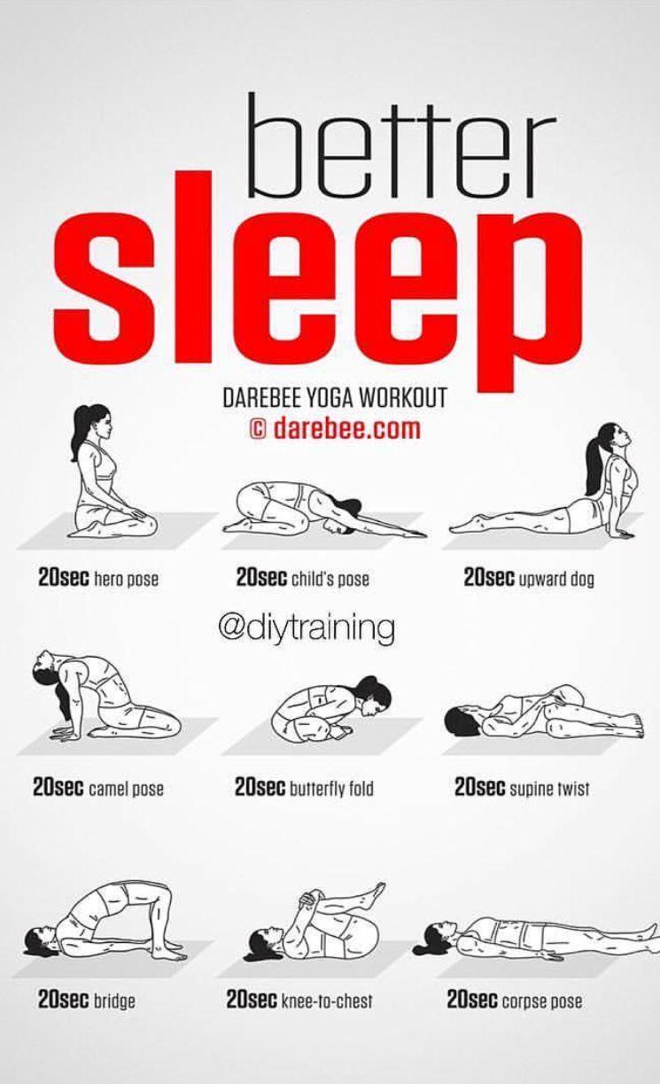 Better sleep yoga poses  Sleep yoga, Basic yoga poses, Yoga poses