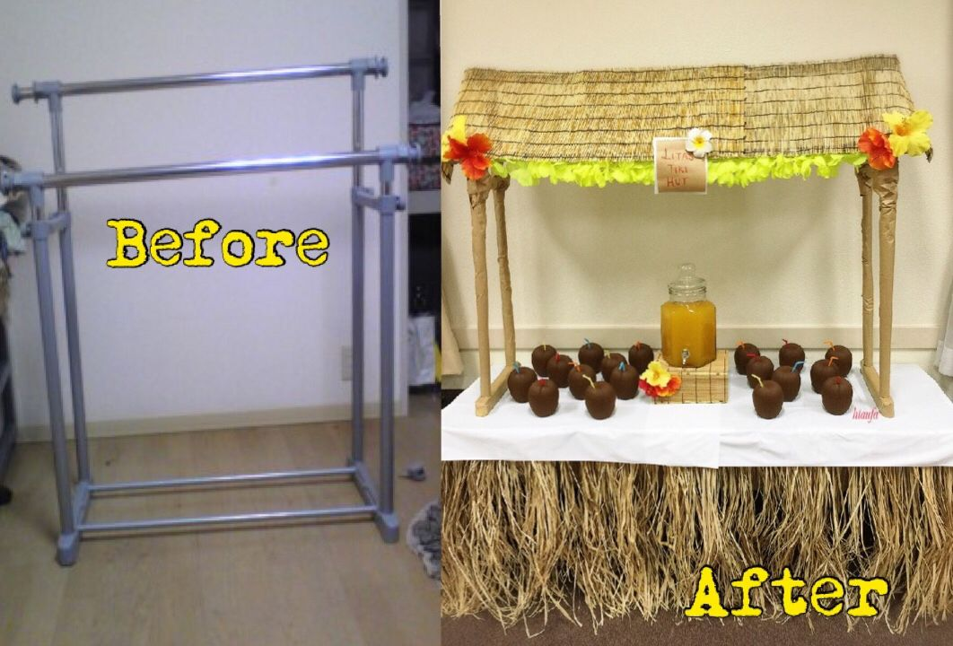 DIY Tiki hut DIY Tiki bar EASY AND SIMPLE WAY TO CREATE A TIKI HUT