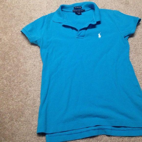 Blue Ralph Lauren skinny polo In great condition Ralph Lauren Tops Tees - Short Sleeve