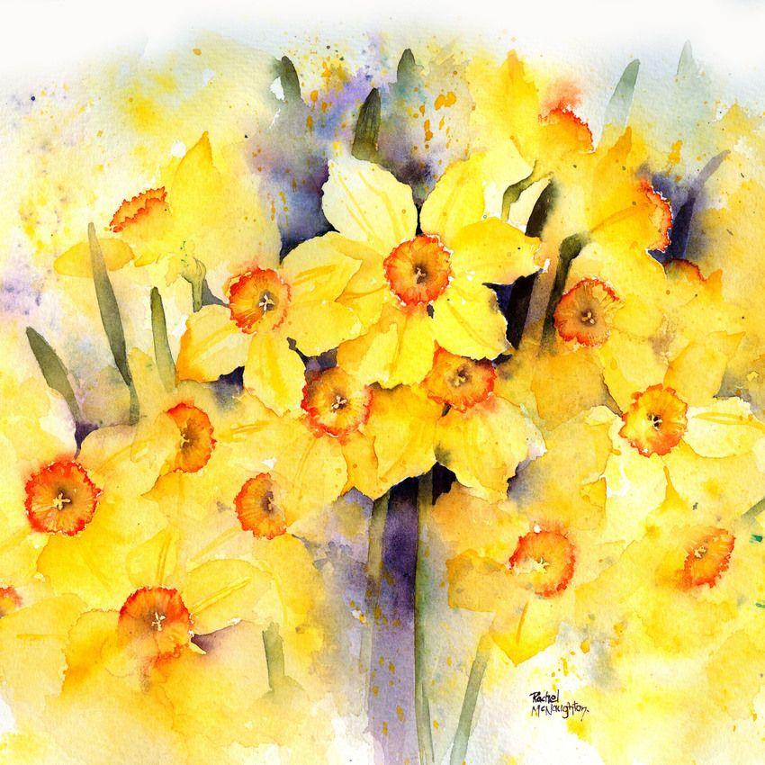 Rachel Mcnaughton Advocate Art Abstract Floral Art Watercolor