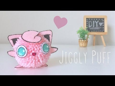 (25) DIY Jiggly Puff Pom Pom character - YouTube