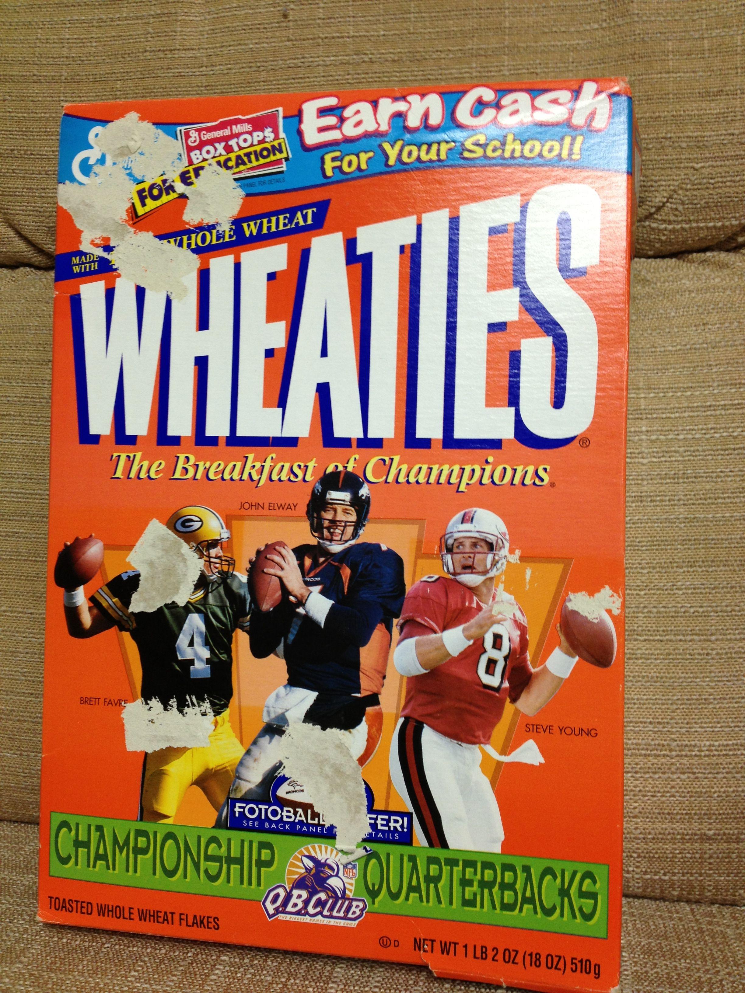 John Elway Wheaties Box Broncos Timeline Images Denver