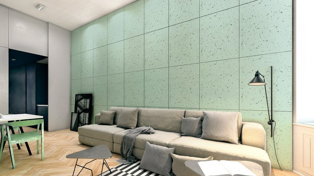 industrial concrete wall panels create your apartment look paint rh pinterest com contemporary wall panels interior uk Living Room Walls Wood Panels