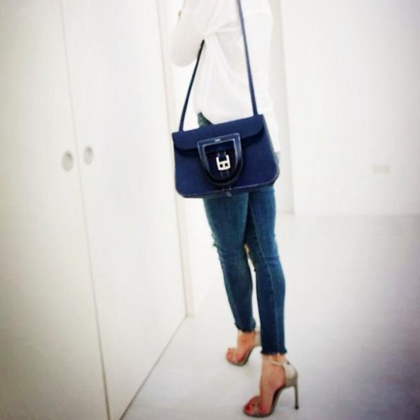5a16de053d48 Hermes Blue Sapphire Halzan Bag 2