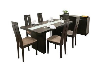 Magness Dark Brown 8 Piece Modern Dining Set Affordable Modern
