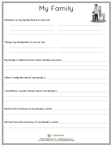 Explore family relationships with this printable worksheet for ...