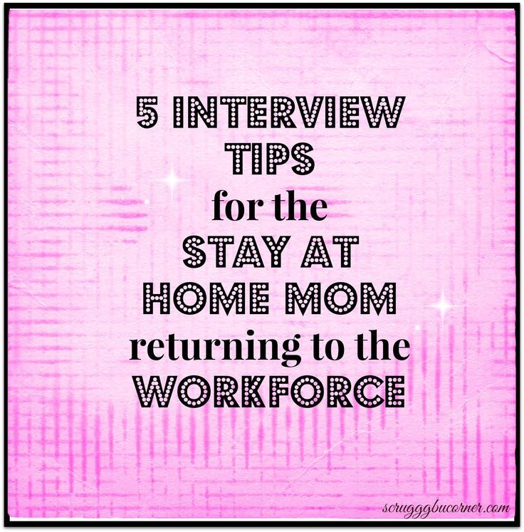 Sample Resume for Stay at Home Mom Returning to Work These are great