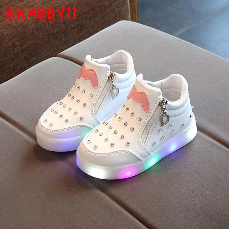 Only Us 7 49 New Spring Autumn Kids Led Shoes For Girl Boy Toddler Girls Sneakers Children Cart Zapatos Nike Para Ninos Zapatos Para Ninas Zapatillas De Ninas