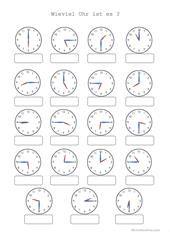 Uhrzeit | clasa-1 | Pinterest | Worksheets