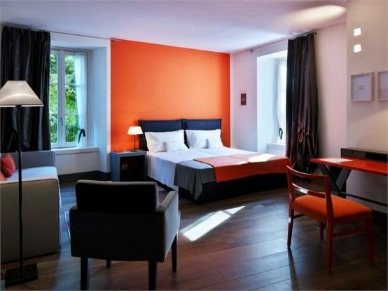 Orange Schlafzimmer Entwürfe 46 68 Stilvolle Orange