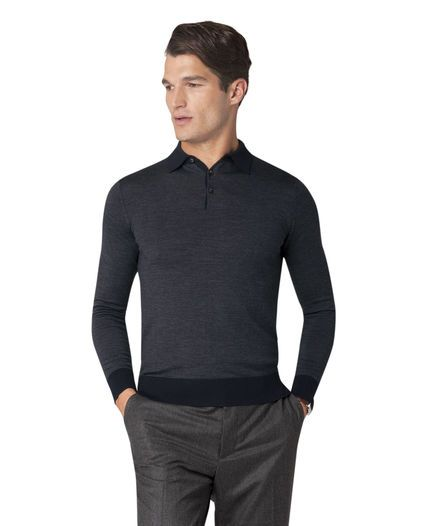 6441bfab7 The ultimate in smart-casual styling; the Noland polo combines a light  merino knit