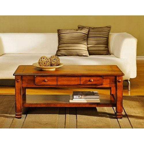Contemporary Rustic Oak Wood Coffee Table Living Room Storage Drawer Shelf Side End Furniture Model - Unique side table with drawer Unique
