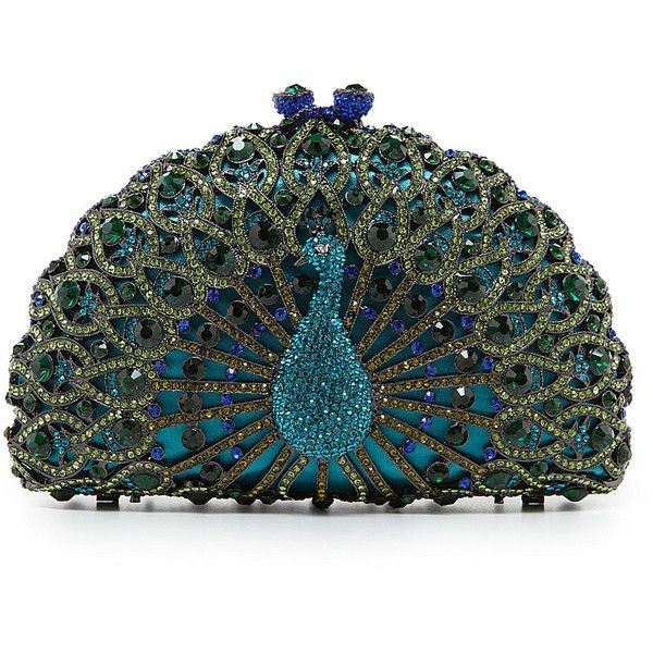 e5728935a8d4 Kate Landry Social True Peacock Clutch featuring polyvore women s fashion bags  handbags clutches purses accessories peacock purse hand bags handbags purses  ...