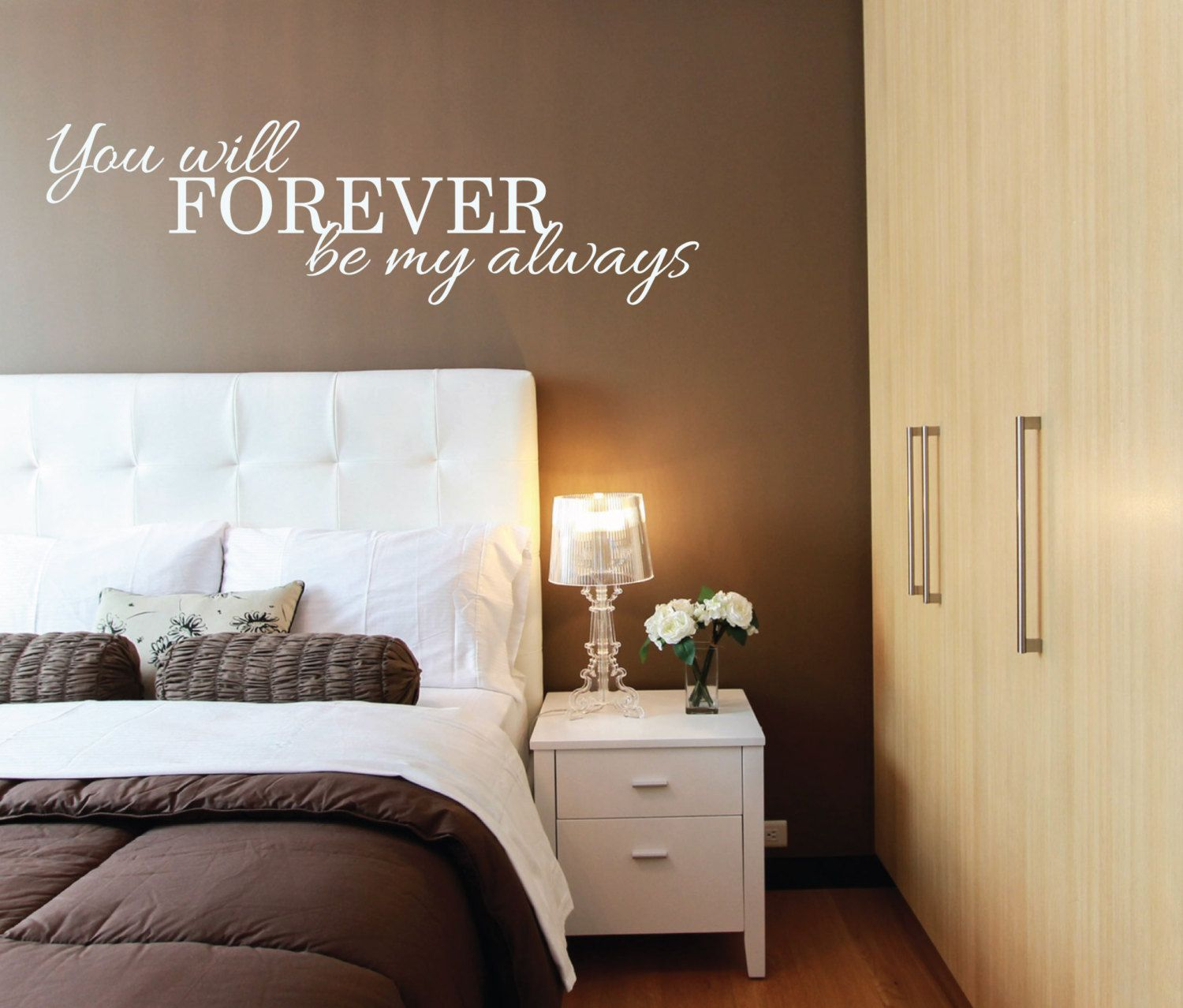Over The Bed Decor above bed wall sticker - you will forever be my always l over bed