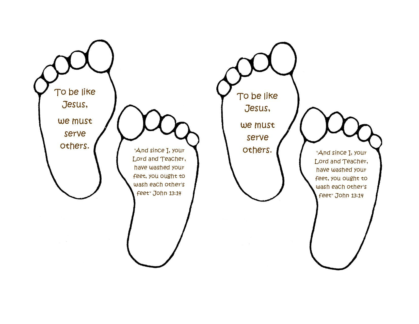 Jesus Washes Feet. Do the kids footprint with this saying. Day 3 ...
