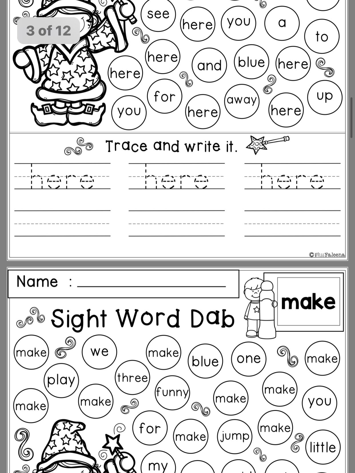 Pin By Amber Wray On Sight Words
