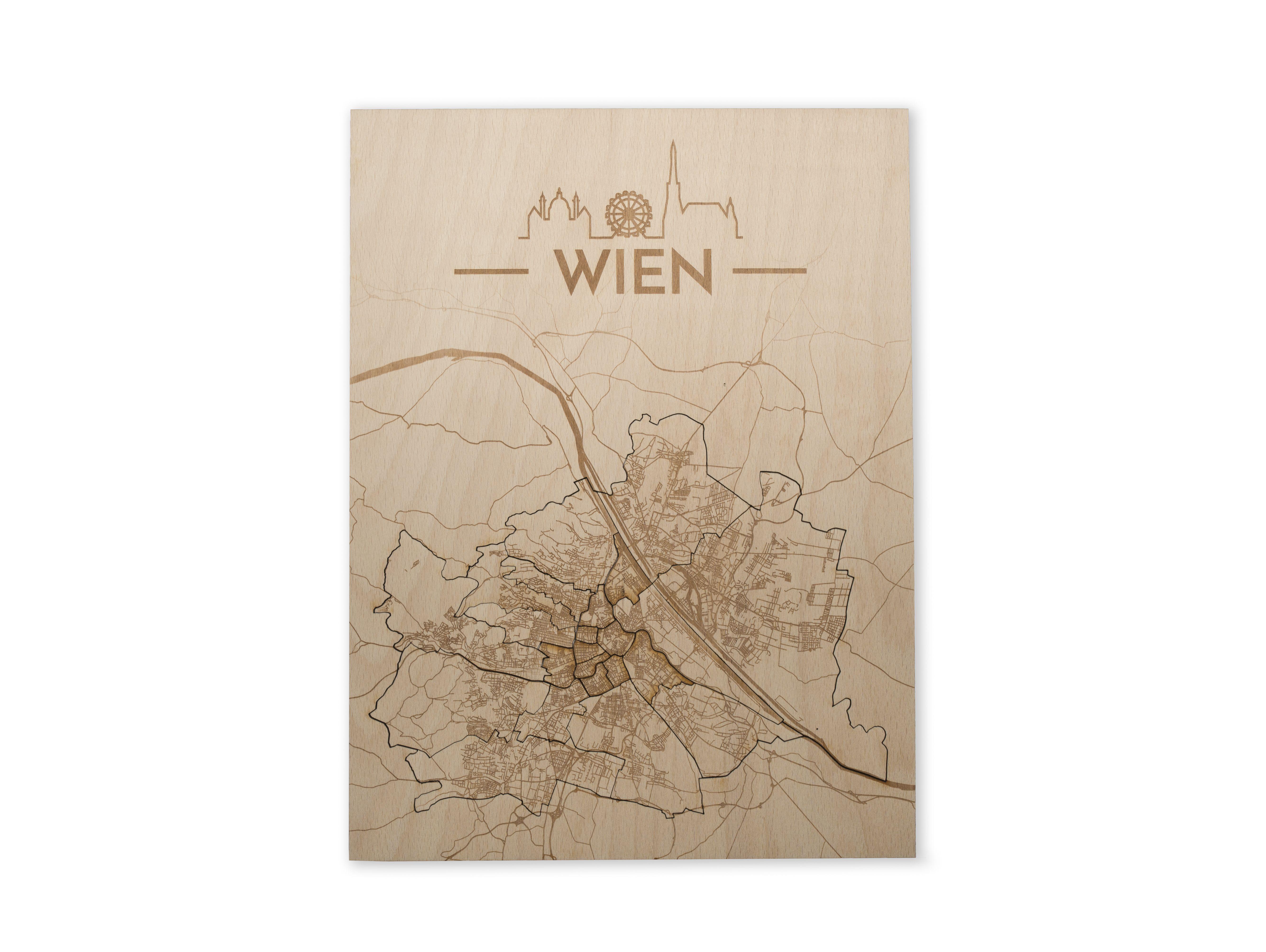 Geschenk und Geschenkidee für München Eine einzigartige Karte von München bestehend aus 25 herausnehmbaren Stadtteilen Die Straßen des Umlands un…