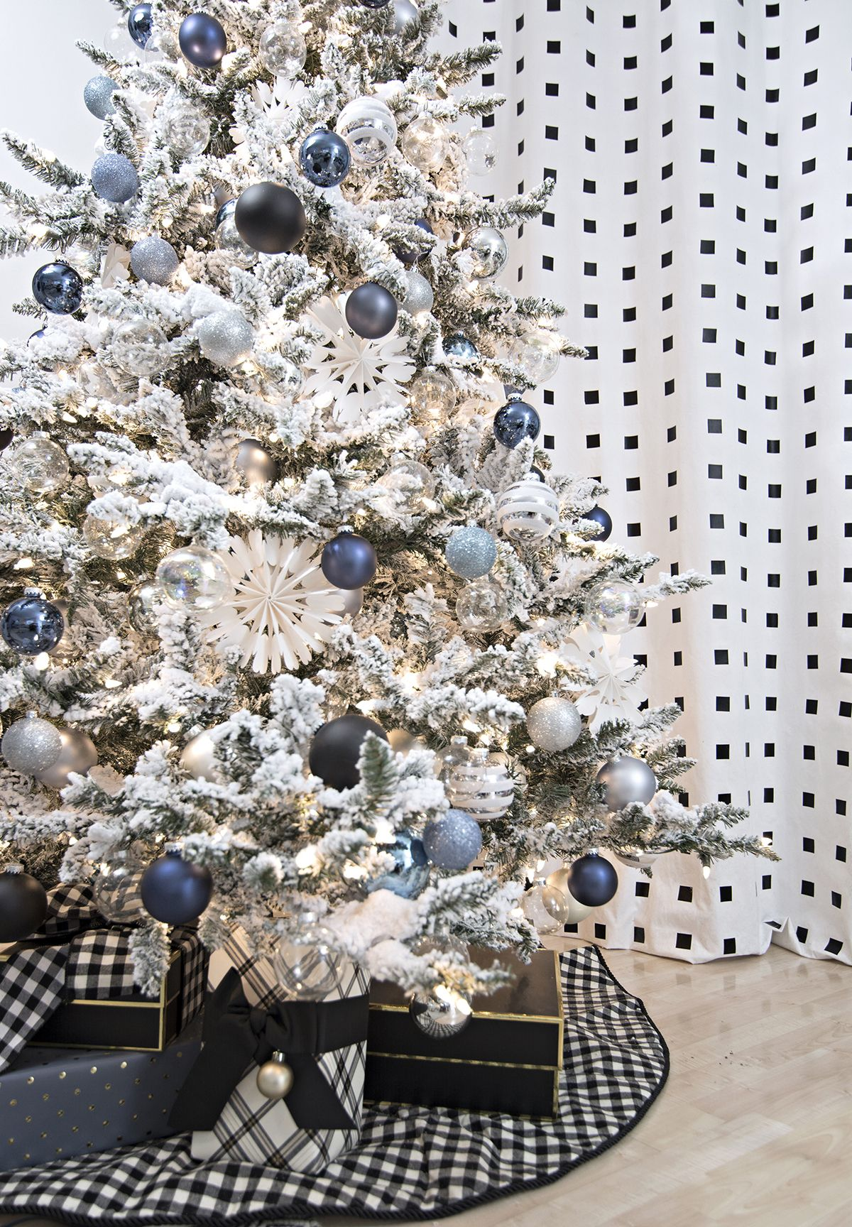 Denim Blue And White Christmas Blue Christmas Decor Blue Christmas Tree White Christmas Tree Decorations