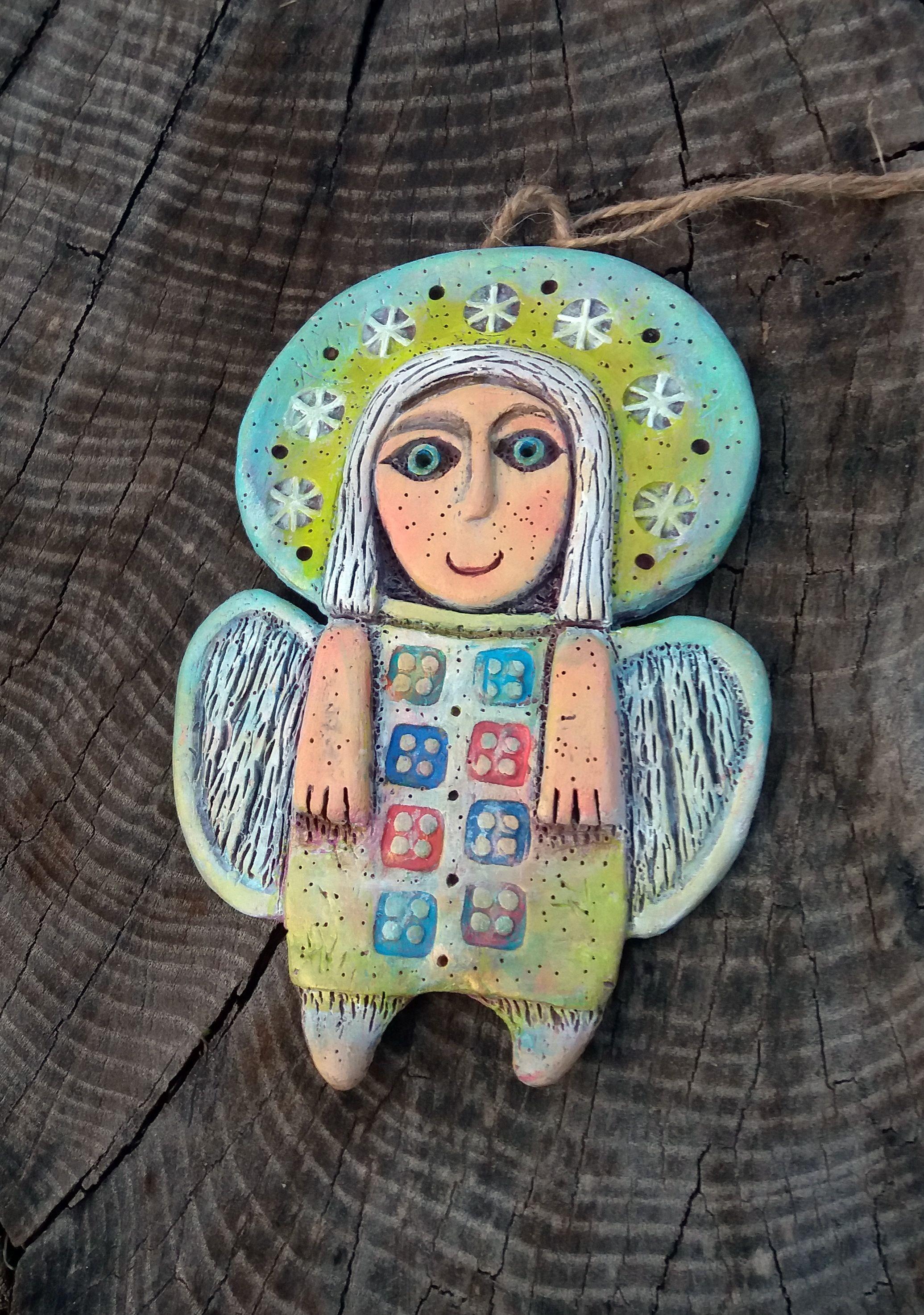 Handmade Ceramic Angel Clay Angel Wall Decor Angel Hanging Etsy In 2021 Ceramic Angels Handmade Ceramics Clay Angel